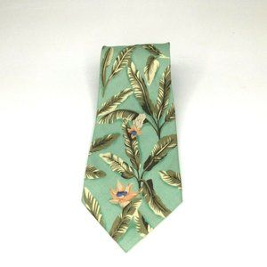 Tommy Bahama Green Tropical Floral Traditional Tie